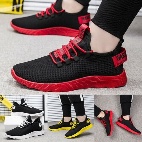 Mens Sneakers Trainers Breathable Sport Running Boys Casual Shoes Gym Fashion