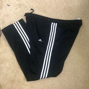 Espolvorear afeitado violación  Adidas 3 Stripes Track Sweat Pants Mens Black Size L RN#88387 CA#40312 |  eBay