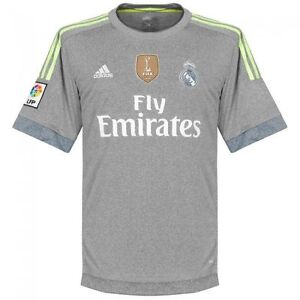 24c0fc9d7 Adidas Men s FOOTBALL REAL MADRID AWAY REPLICA JERSEY Grey AA2219 a ...