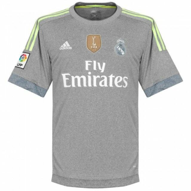 separation shoes 8b9d0 56f0b Adidas Men's FOOTBALL REAL MADRID AWAY REPLICA JERSEY Grey AA2219 a