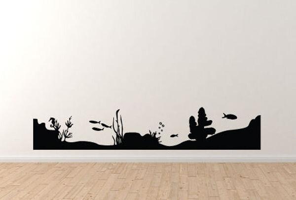 Marine Landscape - Sea Floor Coral Reef Fish Version 3 - Vinyl Wall Decal
