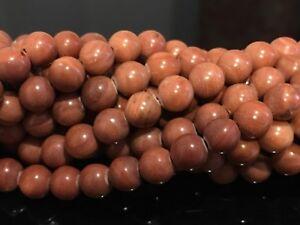 8mm-Red-Malachite-Round-Gemstone-Beads-15-5-034-Strand-UK-EBAYER