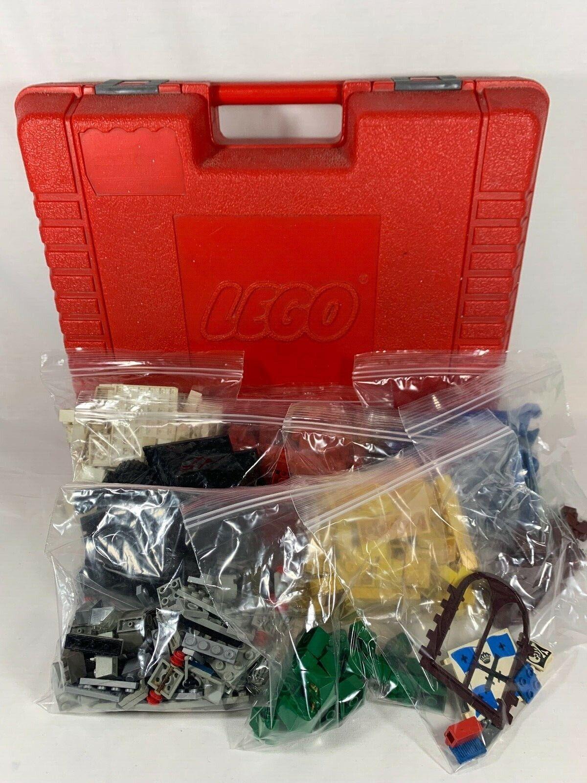 Vintage 1985 Lego Rojo Estuche Lleno De Legos