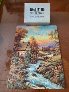 Vintage-Jigsaw-Puzzle-THE-OLD-MILL-Mettel-Harter-Pub-COMPLETE-Brown-Bigelow-1932