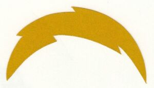 Reflective San Diego Chargers Fire Helmet Decal Sticker