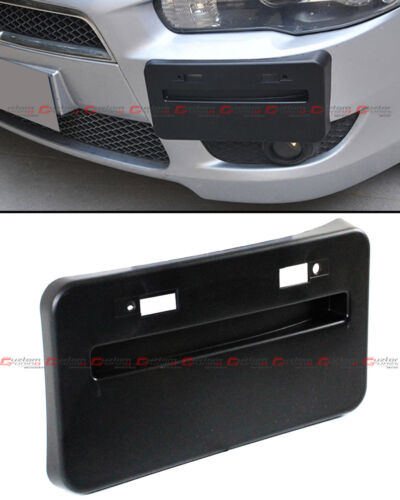FOR 08-16 MITSUBISHI LANCER GTS EVO X FRONT BUMPER LICENSE PLATE RELOCATOR FRAME