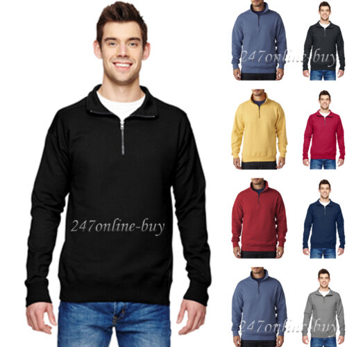 Hanes Mens Pullover Nano Fleece 1//4 Zip Sweatshirt N290