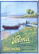 FUTURISMO MILKA VELMA SUCHARD 1915 PUBBLICITA' ORIGINALE APPLICATA CARTONCINO