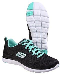 1ef64870f790 Skechers Flex Appeal 2.0 High Energy Memory Foam Womens Trainers ...