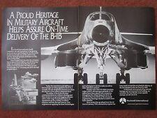 5/1982 PUB ROCKWELL INTERNATIONAL USAF B-1B SAC STRATEGIC BOMBER ORIGINAL AD