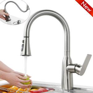 Details zu Wasserhahn Küche Ausziehbar 9 SprühModus Küchenarmatur  Wassersparer Spültischarm