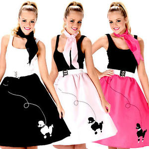 Image Is Loading Rock And Roll Poodle Skirt Ladies Fancy Dress