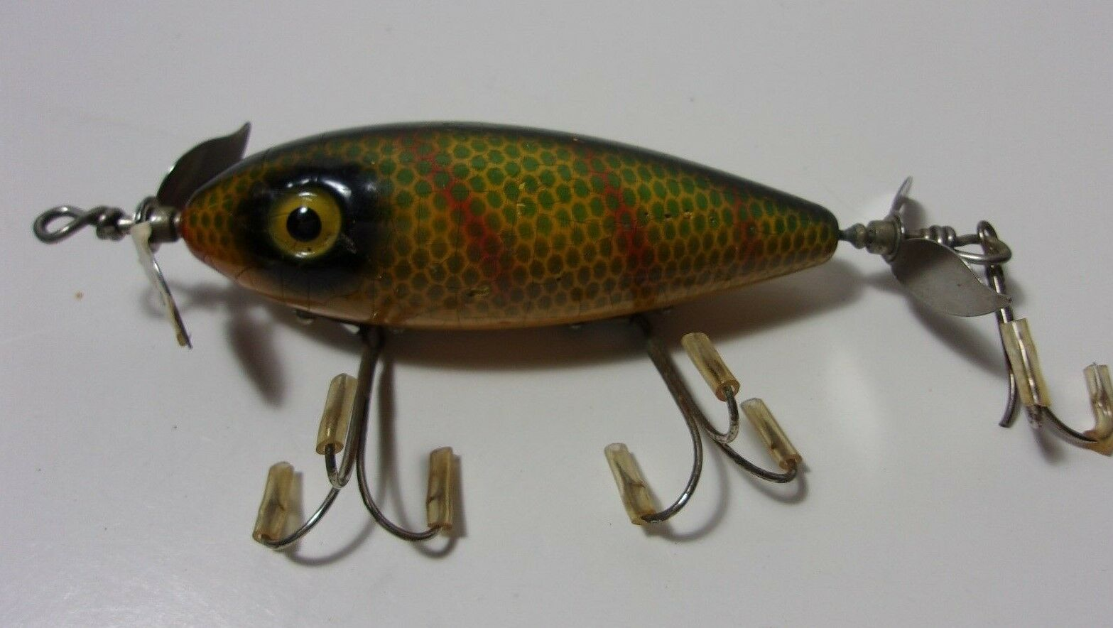 SOUTH BEND SURF ORENO Fishing Vintage wood Perch Lure     T  wholesale prices