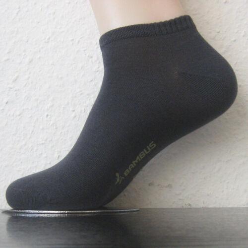 3 Paar Damen Bambus Sneaker Socken uni mit Softrand viele Farben alle Größen