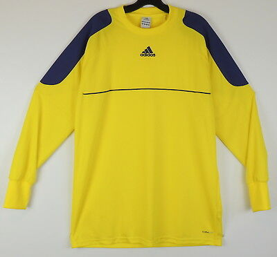 adidas Bilivo ClimaLite Soccer GOALKEEPER GOALIE Jersey Brand New Gray Yellow
