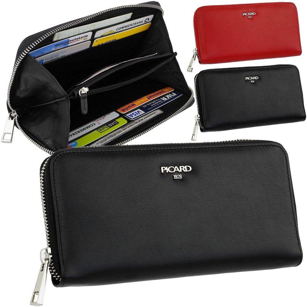 e357f4ae2cafb Picard Damen Leder Geldbörse Portemonnaie Bingo schwarz 8693 günstig kaufen