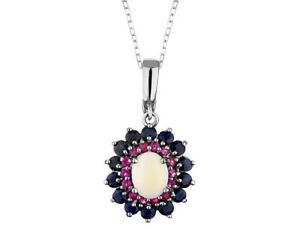 Sapphire-Ruby-and-Opal-Pendant-3-65-Carats-in-Silver