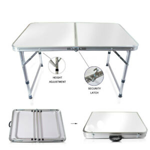Aluminum Folding Table 4'Portable Indoor Outdoor Picnic Party Camping Tables NEW