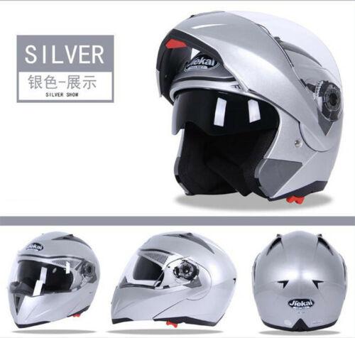 7 Color Motorcycle Full Open Face Helmet Dual Visor Modular Flip Up Sun Shield