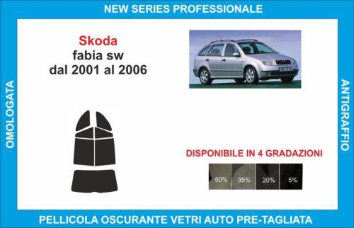 window tint glass Skoda fabia sw from 2001-2006 set rear
