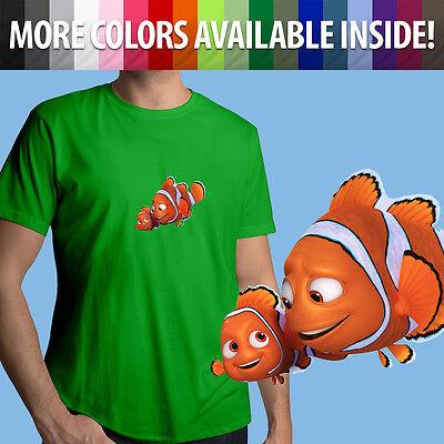 Clownfish Finding Nemo Disney Inspired Mens Longsleeve Tee