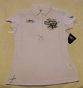 d8747726 Image is loading Ford-Vintage-Heritage-Ladies-White-Short-Sleeve-Polo-
