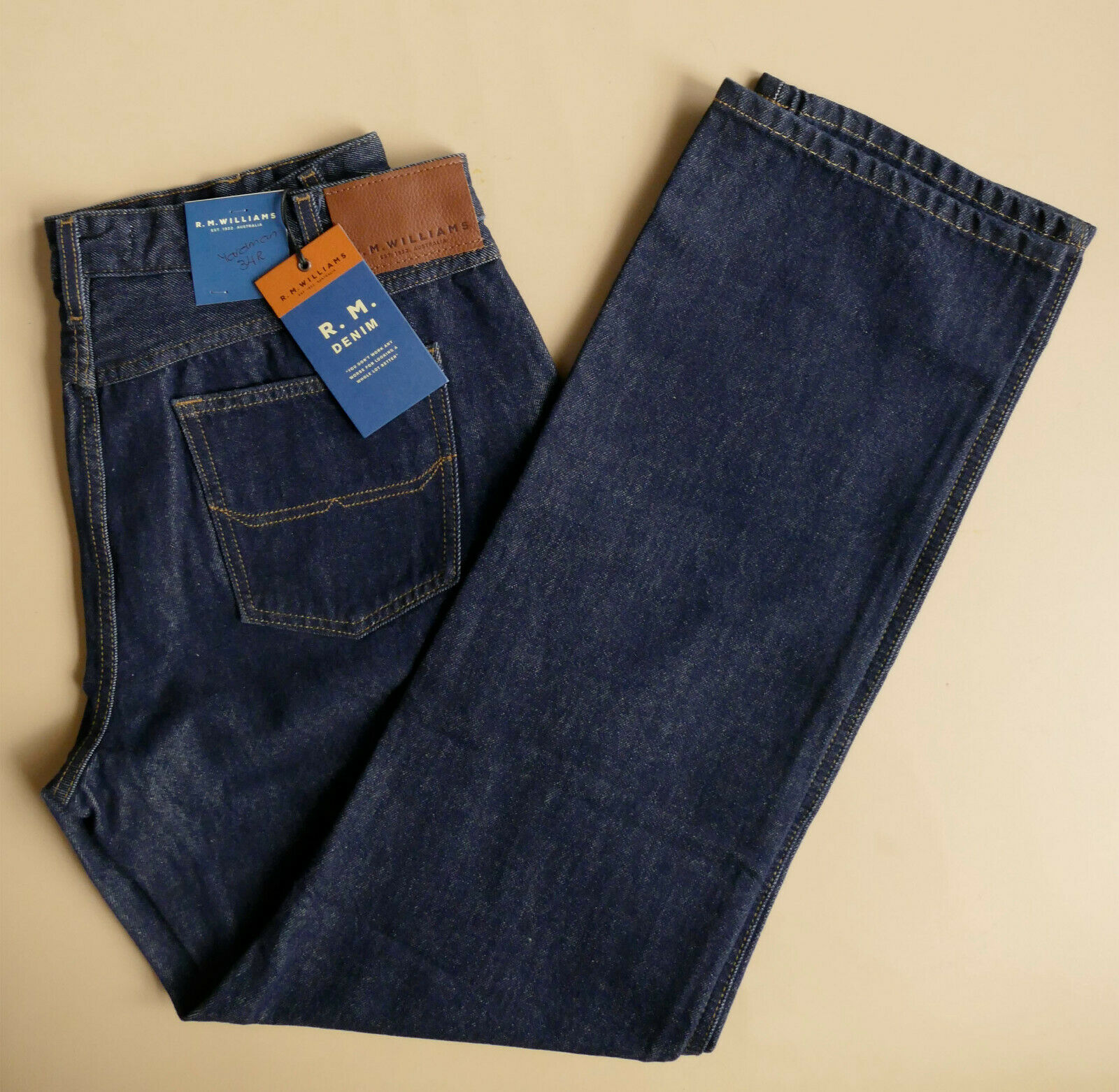 RM Williams Yardman jeans - size Waist 34 - NEW - BARGAIN