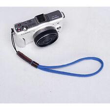 Azul Cámara Nylon Mano Muñeca correa para Canon Nikon Panasonic Sony Fuji Samsung