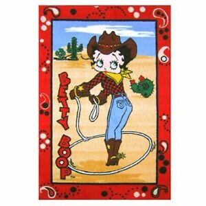 Image Is Loading Betty Boop Western Area Rug Three Sizes Available