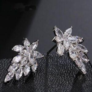 Color-Trendy-Brincos-Zircon-Cubic-Jewelry-Leaves-Stud-For-Women-Earrings