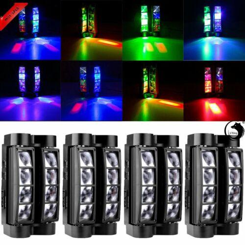 4PCS Spider Beam Moving Head Stage Lighting  RGBW LED DMX Disco Party Light