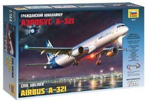 Zvezda 7017 Civil Airliner Airbus A-321 1/144