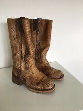 Sancho Python Skin Cowboy Boot Size 38 Frye Style