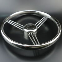 Great Sale 13-1/2'' Inch 9 Spoke Stainless Steel Marine Boat Steering Wheel 15°