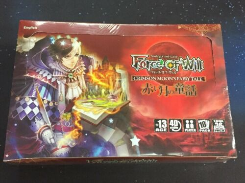 2016 FORCE OF WILL CRIMSON MOON'S FAIRY TALE SEALED BOOSTER BOX