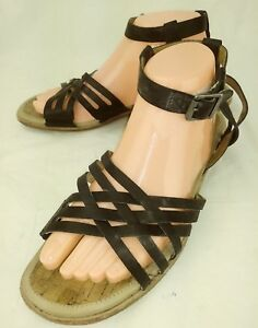 26e3f045b4dc Earhkeepers Timberland 9626 Wos Sandals US 9.5 Black Leather Ankle ...