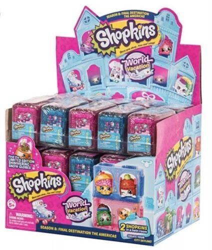 Shopkins monde vacances saison 8 Destination finale les Américains Case 2 Pack X30 NEUF
