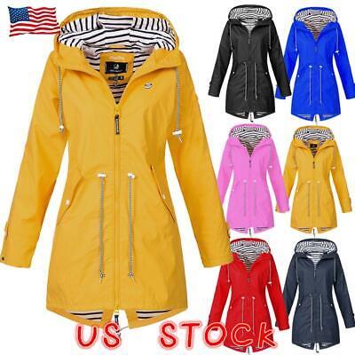 4THSEASON Womens Casual Windproof Hooded Windbreaker Long Sleeve Zipped Lined Rain Jacket Waterproof Lightweight Active Outdoor Raincoat