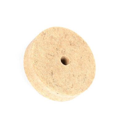 """50mm 2/"""" R Roloc Type Wool Felt Disc Polishing Wheel Buffing Pad for Wood 10Pcs"""
