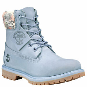 Details about Timberland Women's Premium 6 Inch Waterproof Boots Pink Light Blue A1W1S A1W24