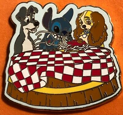 Disney Wdw 2005 Stitch Invades Series Lady And The Tramp Spaghetti Scene Pin Ebay