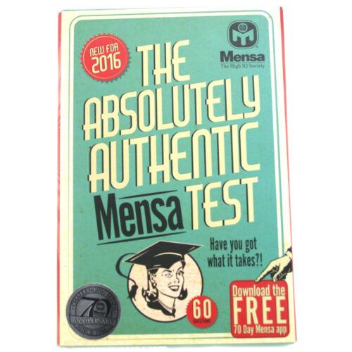 874036 Mensa l/'alto quoziente intellettivo Society-Il test assolutamente autentici da tavolo MENSA