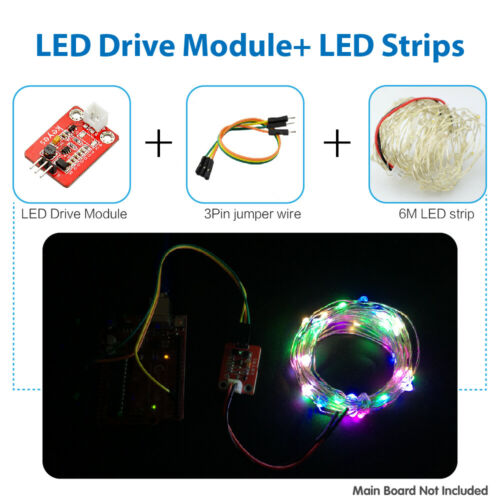 KEYES 3PIN Electronic Programmable 6M LED Strip Lights String Module for Arduino