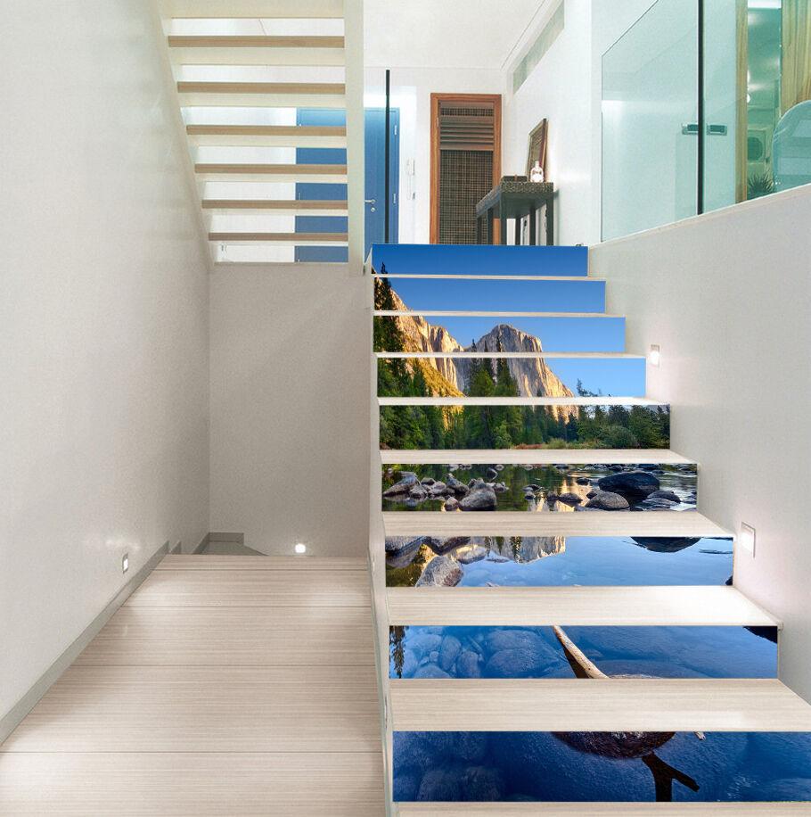 3D Schön Fluss 4233 Stair Risers Dekoration Fototapete Vinyl Aufkleber Tapete DE