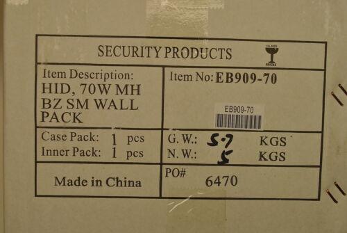 Security Products EB909-70 70-Watt Metal Halide Wallpack Light Fixture Multi-Tap