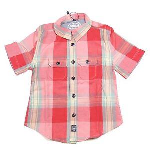 A0002-BONOTES-Madras-Bimbo-Woolrich-manica-corta-camisetas-ninos