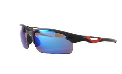 Flight Tracker Cycling Sport Sunglasses Black Red Blue Mirror Case Included Sp01 Col 4 Wohltuend FüR Das Sperma