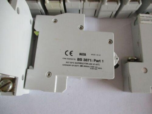 Mem Eaton Bill MEMSHIELD 1 6 10 16 20 32 Amp M9 Type 2 3 B C Single Pole MCB/'S
