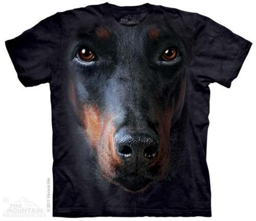 All Sizes 3256 Big Doberman Face The Mountain T-Shirt