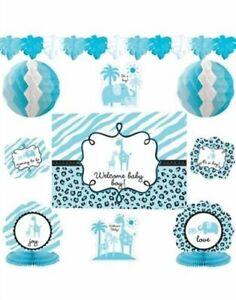 10-Pieces-It-039-s-a-Boy-Baby-Shower-Decorating-Kit-Sarari-Jungle-Theme-1248